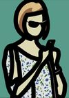JULIAN OPIE - Tourist with blouse
