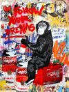 MR. BRAINWASH auch Thierry Guetta (MBW) - Every Day Life - Follow Your Dreams (Keith Haring)