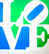Robert  Indiana  - The Book of Love #8 (green/blue)