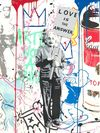 Mr. Brainwash auch Thierry Guetta (MBW) - Einstein meets Elvis