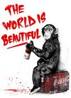MR. BRAINWASH (Thierry Guetta) - The World Is Beautiful - Red