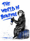 MR. BRAINWASH (Thierry Guetta) - The World Is Beautiful - Blue