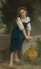 William Adolphe Bouguereau, Orpheline à la fontaine, 1883