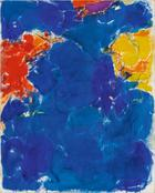 Sam Francis, Deep Blue, Yellow, Red, 1956