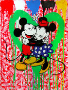 BRAINWASH auch Thierry Guetta (MBW), MR. ◊ Mickey & Minnie (green heart)