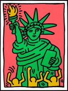 Koller Auktionen AG - Keith Haring, Statue of Liberty, 1986
