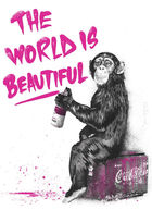 BRAINWASH (Thierry Guetta), MR. ◊ The World Is Beautiful - Pink