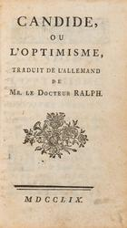 Voltaire, Candide, Genf 1759