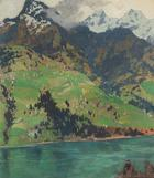 Hugo Hodiener, Motiv bei Zell am See