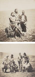 Roger Fenton, Ismail Pacha & Attendants – Captain Pechell & Men of the 77th Regiment, Winter Dress, 1855