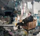 Adrian Ghenie, Self Portrait as Charles Darwin, 2011