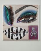 Gina Beavers, Beetlejuice Eye and Lip, 2017