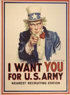 James Montgomery Flagg, I Want You for U.S. Army, 1917/18