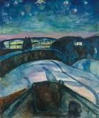 Edvard Munch, Sternennacht, 1922/24