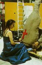 Nam June Paik und Charlotte Moorman, TV-Cello