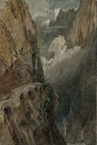 Joseph Mallord William Turner, The Schollenen Gorge from the Devil's Bridge. Pass of St Gotthard, 1802