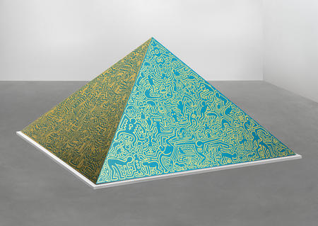 Keith Haring, Pyramid Sculpture, 1989