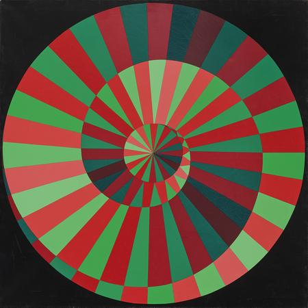 Victor Vasarely, Sigle Olympique / variante verte-rouge, 1972/73