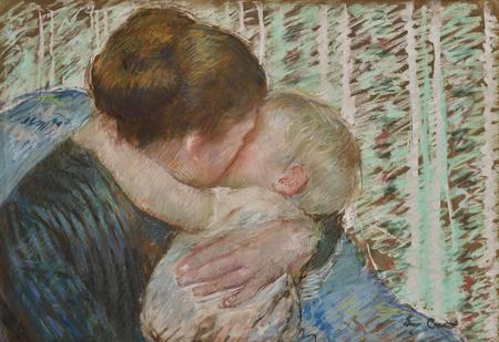 Mary Cassatt, A Goodnight Hug, 1880