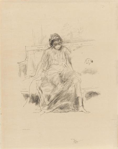 James Abbott McNeill Whistler, The draped figure, seated, 1893