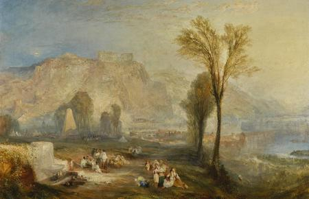Joseph Mallord William Turner, Ehrenbreitstein or The Bright Stone of Honour and the Tomb of Marceau, from Byrons's Childe Harold, 1835