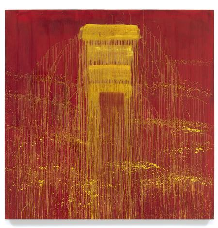 Pat Steir, Four Yellow / Red Negative Waterfall, 1993