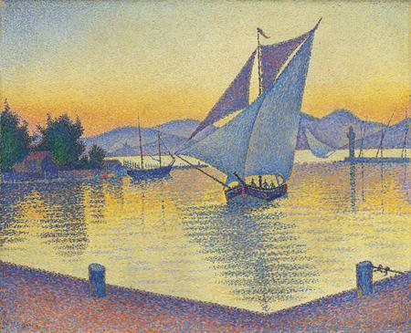Paul Signac, Le port au soleil couchant. Opus 236 (Saint-Tropez), 1892