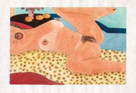 Tom Wesselmann, Drawing for Great American Nude #87, 1967/75
