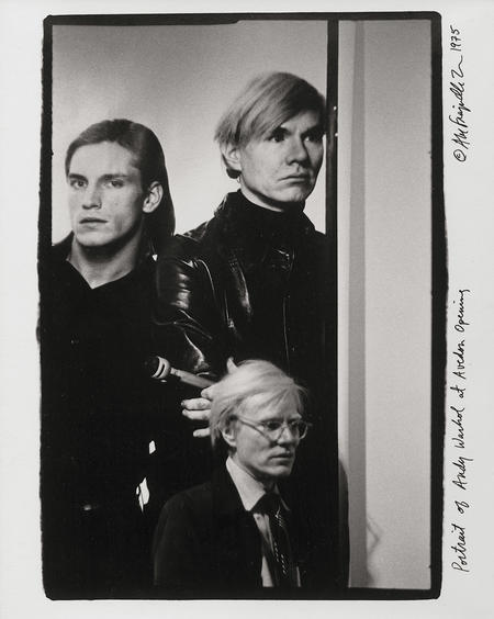 Abe Frajndlich, Portrait of Andy Warhol at Avedon Opening. Marlborough Gallery, 1975