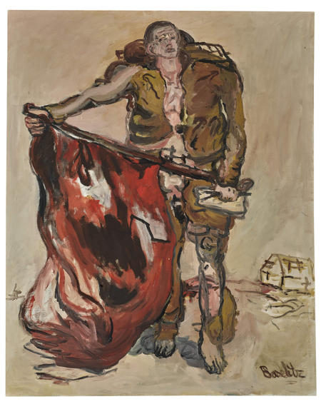 Georg Baselitz, Mit Roter Fahne, 1965