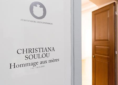 "in der Ausstellung ""Christiana Soulou – Hommage aux mères"""