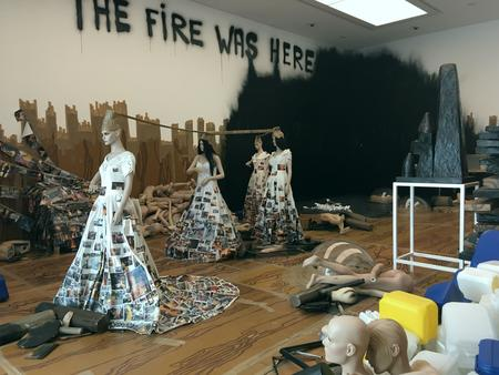 Thomas Hirschhorn, The Fire Was Here, 2013