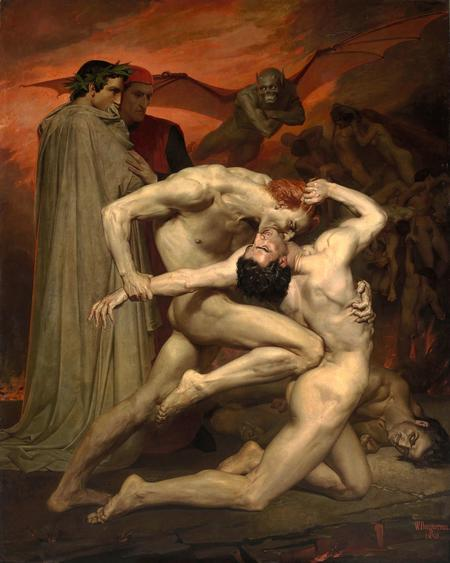 William Adolphe Bouguereau, Dante und Vergil, 1850