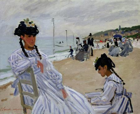Claude Monet, Am Strand von Trouville, 1870