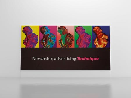 Peter Saville, Installation visual for New Order Advertising Technique billboard, 1989