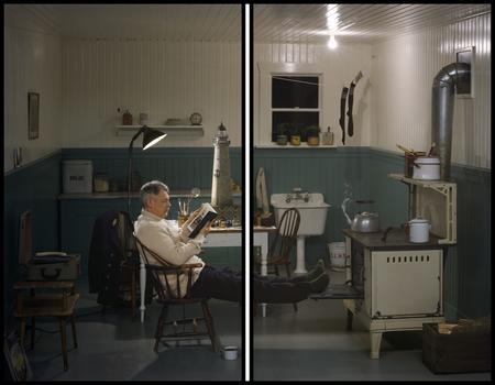 Rodney Graham, Lighthouse Keeper with Lighthouse Model, 1955, 2010