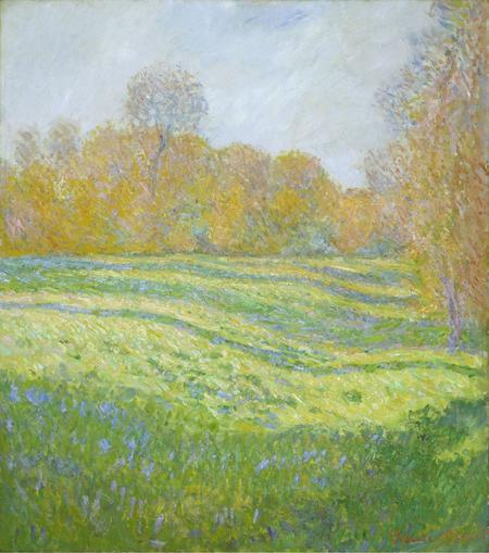 Claude Monet, Wiese bei Giverny im Herbst, 1886