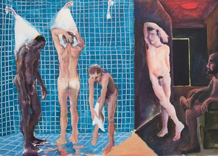 Patrick Angus, A Shower at the Baths, 1984