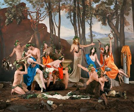 Eleanor Antin, The Triumph of Pan (after Poussin), 2004