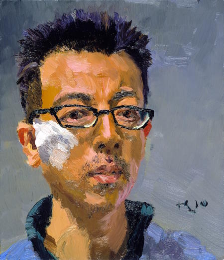 Liu Xiaodong, Self-Portrait, 2010