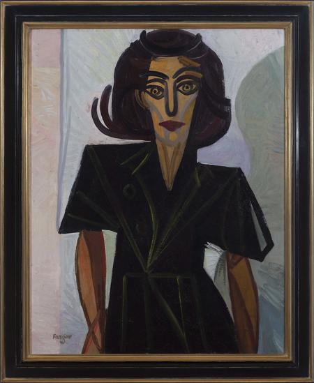 Wojciech Fangor, Portrait of a Woman, 1948