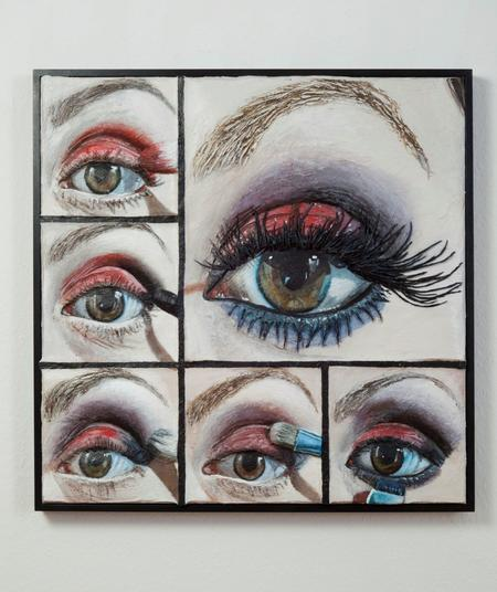 Gina Beavers, Red smoky eye, 2017