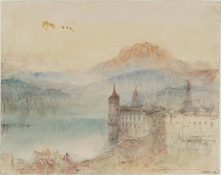 Joseph Mallord William Turner, Lucerne with Pilatus beyond, um 1841/44